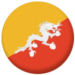 Bhutan Country Flag 58mm Button Badge